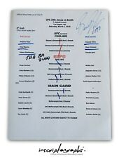 Bruce Buffer Event Used - UFC 235 Official Bout Order List Card Fight Jon Jones