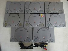 Playstation 1 console system + Hook Ups Working Sony Japan Vers PS1 ps1