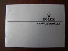 Vintage 1985 Genuine Rolex Service Booklet