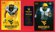 Lot of 3 Different West Virginia Mountaineers (WVU) 2019 Football Schedules