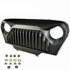 Front Bumper Grill Grille Matte Black Angry Bird For Jeep Wrangler TJ 1997-2006