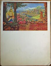 "Chartreuse/Chartreux Liqueur Advertising 1910 French Menu - Large 11"" x 14.5"""
