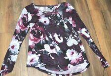Simply VERA WANG Long Sleeve Top Scoopneck Career Casual Shirt Stellar Bouquet