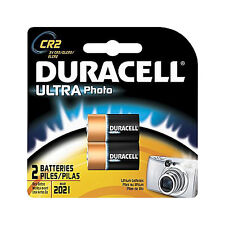 Duracell CR2 Ultra Photo Batteries Lithium 3v / 2 ct. exp. 2021 *NEW Sealed*