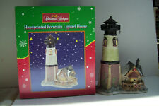 Christmas Delights Handpainted Porcelain Lighted House In Original Box