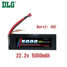 Genuine DLG RC Battery 22.2V 6S 20C 5000mAh Burst 40C Li-Po LiPo Dean's T plug