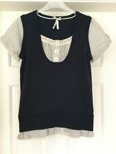 Next Navy Sleeveless Jumper With False Blouse Size 12