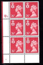 NORTHERN IRELAND - QUESTA - 26p RED - CYL Q2 x 6  MNH