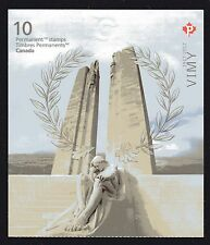 2017  Canada SC# Battle of Vimy Ridge 100 Anniversary booklet of 10 M-NH