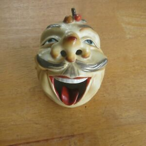 unusual old head ashtray 75/75/75 mm.made in japan.