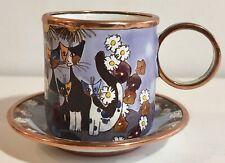 Rosina Wachtmeister Katze Charlotte de Vita Enameled Miniature Tea Cup    TR0497