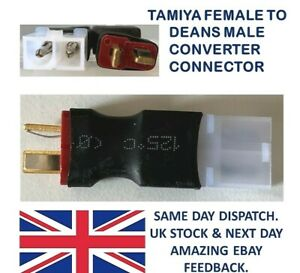 Tamiya FEMALE to Deans T Plug MALE Adapter Converter Connectors lipo battery RC