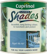 CUPRINOL GARDEN SHADES - FORGET ME NOT - 1 LITRE - 125 ML TINS Paint Sheds Wood