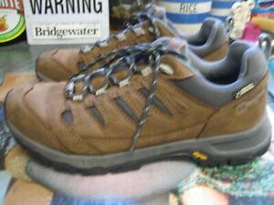 berghaus kanaga gtx tech brown leather lace up walking hiking shoes size uk 4