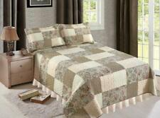 Heather Patchwork California King Bed Quilt. Patchwork Floral Paisley Quilt