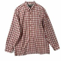 Eddie Bauer Mens Size Large Button Down Long Sleeve Plaid Shirt Lightweight
