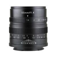 7artisans 55MM F1.4 MANUAL Fixed LENS For Sony E Mount A7, A7II, A7R,NEX,A7III