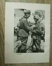 Blatt Bilder Der Tapfere Soldat Orden EK Verleihung 1940 Dünkirchen 2.WK WWII