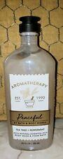Bath & Body Works Aromatherapy PEACEFUL TEA TREE PEPPERMINT Body Wash