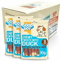Good Boy Duck and Rawhide Dog Treats Chewy Twists, Pack of 10 One Size