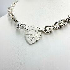 """Tiffany & Co. Please Return To Heart Tag Choker 17"""" Necklace"""