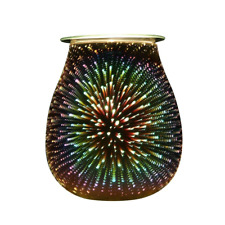 COOSA Colorful Glass Electric Oil Warmer, Candle Wax Tart Burner