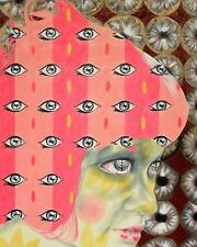 Surreal Abstract Portrait Pattern Colorful Eyes - 8x10 Signed Archival Print