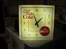 Vintage 1960s Coca Cola Lighted Wall Clock