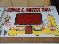 Used Vintage Pasqually Chuck E. Cheese Skee Ball Marquee.