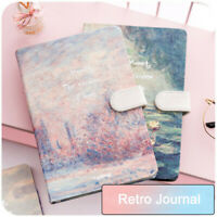 A6 Cardboard Cover Retro Vintage Journal Notebook Lined Paper Diary Planner