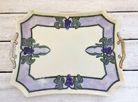 Antique Art Nouveau Vanity Tray Jugendstil Grapes Bavaria Early 1900's Rare