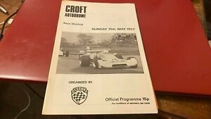 CROFT AUTODROME---RACE MEETING--PROGRAMME---15TH MAY 1977
