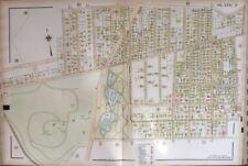 Orig 1911 Worcester, Ma Elm Park, Doherty Memorial High School Plat Atlas Map