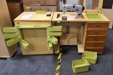 More details for pfaff 269 electric sewing machine w/ horn teak veneer sewing cabinet - cis ba3
