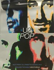 U2 ORIGINAL PROMOTIONAL RECORD SHOP POSTER POP
