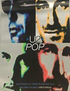 U2 ORIGINAL PROMOTIONAL RECORD SHOP POSTER POP