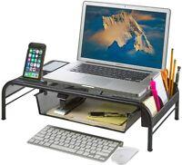 Laptop Stand Computer Monitor Riser Desktop Organizer Phone SpaceSaver TV Metal