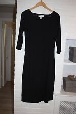 NWOT Bloomingdale's Little Black Dress Maxi 3/4 Sleeve Square Neck Size 12