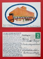 Künstler AK LEIPZIG 1927 Achilleion Gaststätte auf dem Ausstellungsgel.  ( 22839