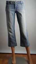 Paige Women`s Capri Blue Premium Denim Size 28 Used Great Condition Made In USA