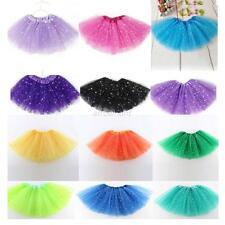 Star Sequins Girls Kid Child Princess Tutu Skirt Ballet Wear Dance Dress Clothes