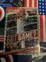 2019-20 Panini Mosaic Basketball Got Game? Paul George Silver Prizm Card #3