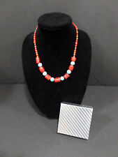 NECKLACE AUTHENTIC ( TURQUOISE/ CORAL ) BEADS HQ RARE ITEM  6680
