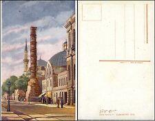 CONSTANTINOPLE KONSTANTINOPEL ISTANBUL - La Colonne brulée - col.-AK um 1918