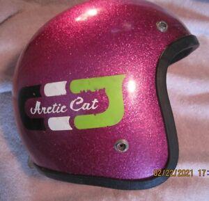 VTG 1975 ARCTIC CAT Snowmobile Helmet Purple Metalic