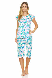 5200C Women Capri Set Sleepwear Pajamas Woman Sleep Nightshirt