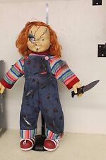 "Bride of Chucky ""Chucky"" Plush Figure 24in with talking stand"