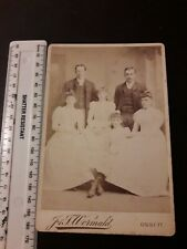 LARGE VICTORIAN FAMILY PHOTOGRAPH : Cabinet Card: WORMALD, DALE ST, OSSETT