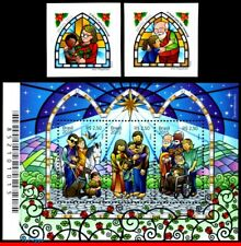 3312-14 BRAZIL 2015 CHRISTMAS, RELIGION, SET AND SOUVENIR SHEET MNH