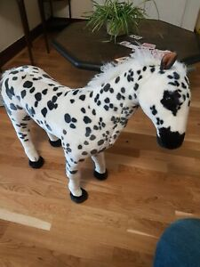 Horse Sit On metal framed Appaloosa Toy.